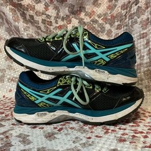 Womens Asics GT-2000 6 Navy Teal Running Shoes
